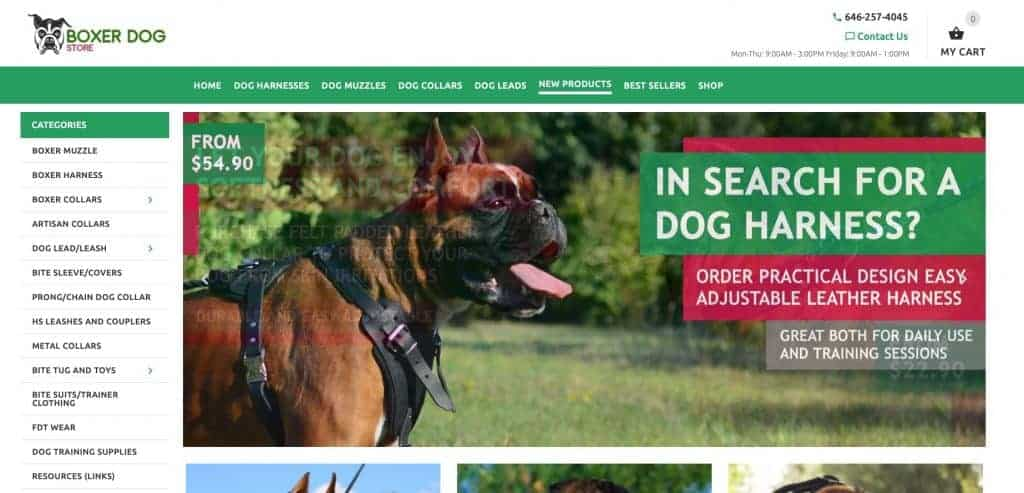 boxer dog website screen shot for the quest of do it your self SEO search engine optimisation