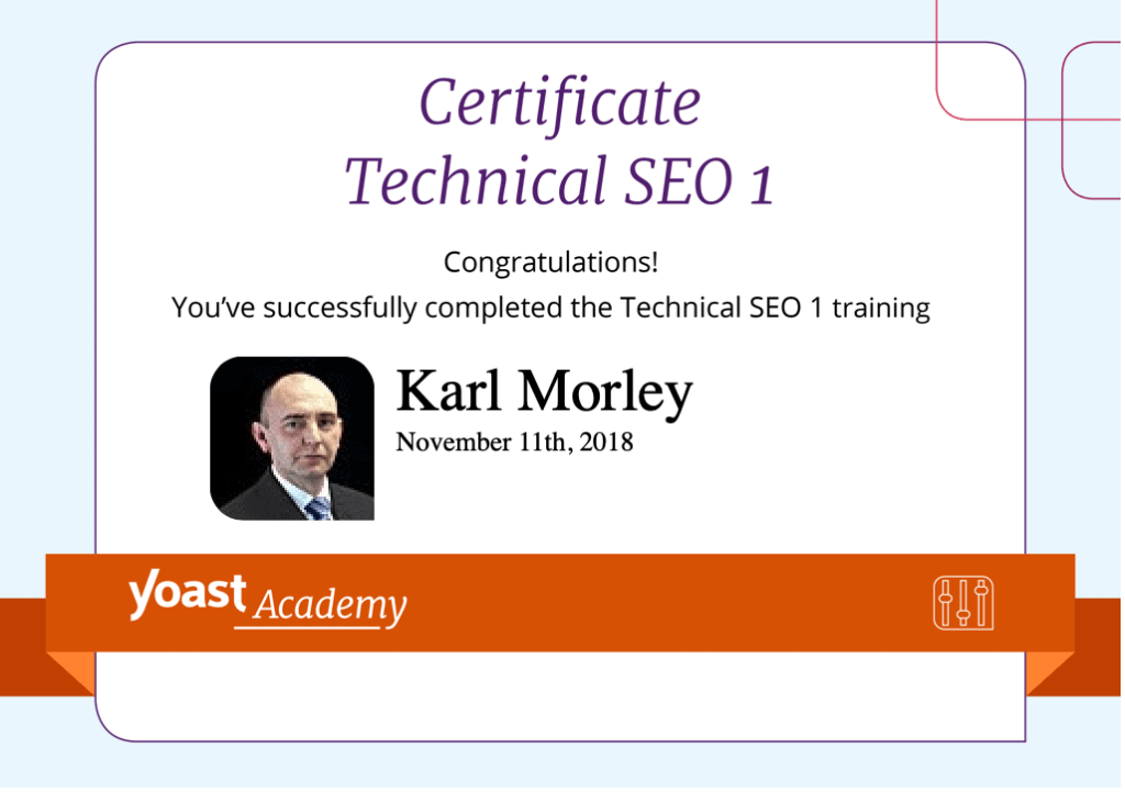 Technical SEO Certificate for SME SEO Agency