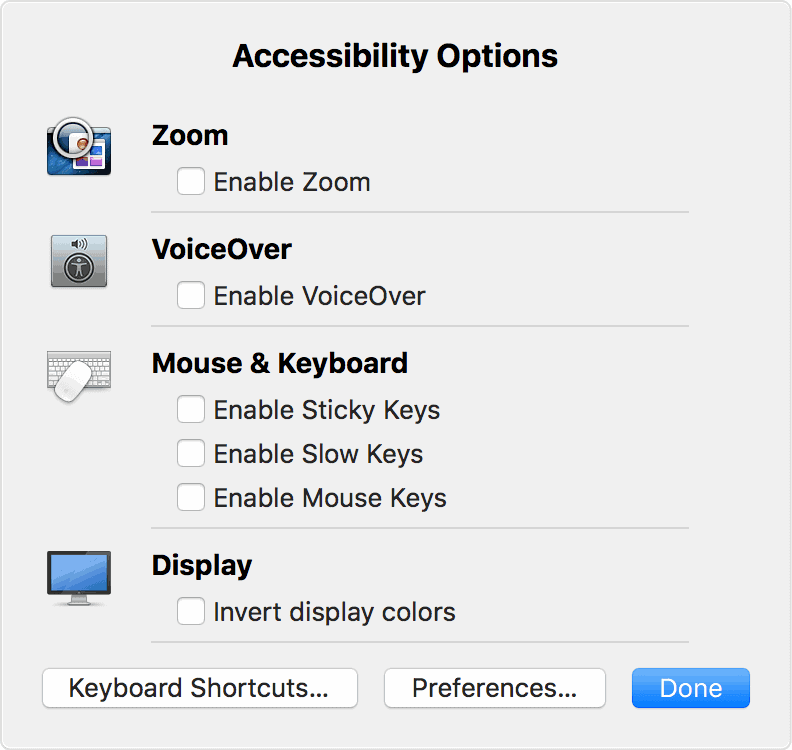 this is the accessibility screen on a Mac used when you want the Alt text reading out